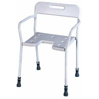 Aidapt Height Adjustable Darenth Shower Chair With Personal Bathing Cut Out