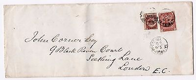 1880 envelope with sg48 1/2d bantam & sg166 tied by Saltburn by the Sea, Loftus