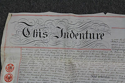 Antique 1880 WAX SEALED Hand-Written Indenture TRANSFER OF MORTGAGE Documents