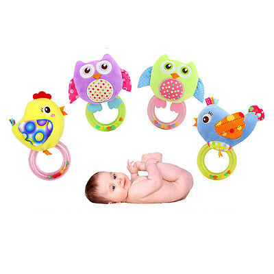 Cartoon Hand Bell 1 PC Gifts Baby Toys Animal Shaped Plush Soft Toys