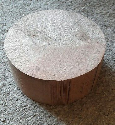 SAPELE wood turning blank 130mm diameter x 55mm