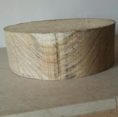 OAK wood turning blank 125mm diameter x 50mm thick.