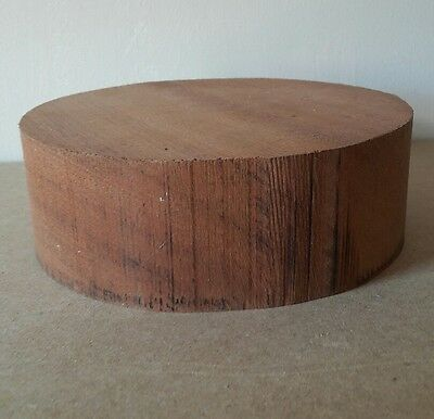 SAPELE wood turning blank 150mm diameter x 50mm