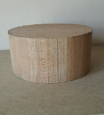 MERANTI wood turning blank 140mm x 69mm