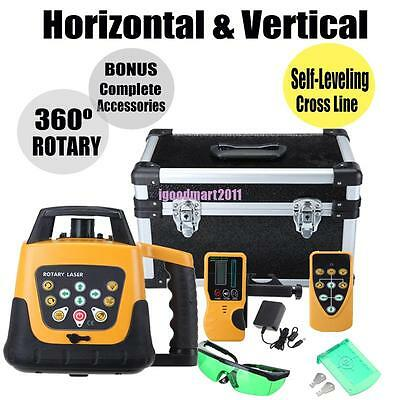 Self Leveling Laser Level GREEN Beam Rotary Rotating Levelling Automatic w/ Case