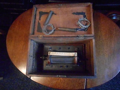 Antique Electric Shock Treatment Machine In Old Wooden Casket.interesting.