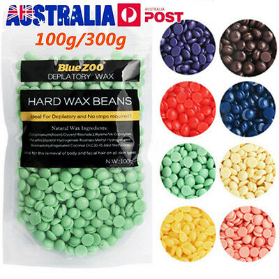 100G/300G Hard Wax Beans Brazilian Granules Hot Film Wax Bead Hair Removal Wax