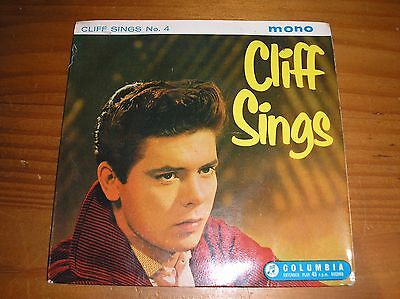 """CLIFF RICHARD. CLIFF SINGS No.4. 7"""" SINGLE EP. """"W T"""" TAX CODE STAMP"""