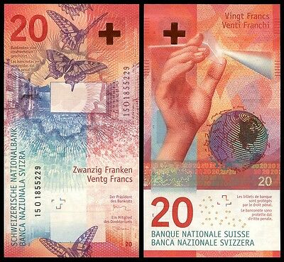 Switzerland - 20 Francs 2017 UNC, Pick NEW