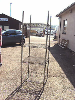 Industrial Metal Bread Rack, Wire Storage Shelves, Adjustable Shelves & Legs