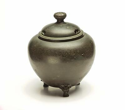 Beautiful Chinese Bronze Censer with Inlaid Silver Wire - Qing Dynasty