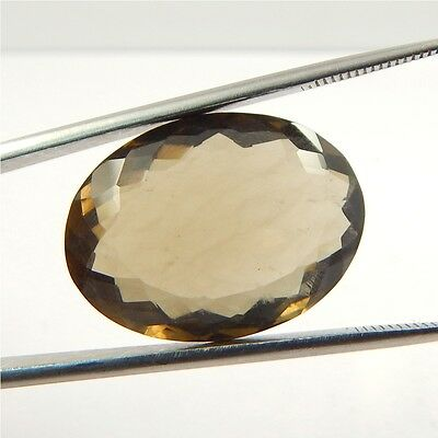 26 cts Natural Smoky Quartz Crystal Gemstone Healing Point Faceted P#191-24
