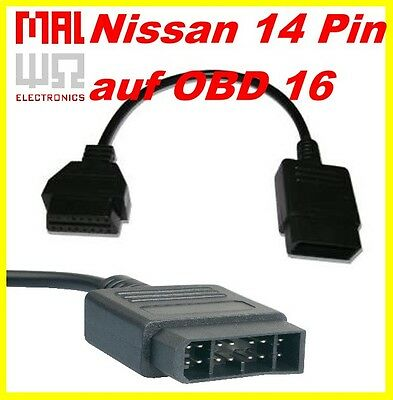 Diagnose Adapter Nissan 14 Pin auf OBD 16