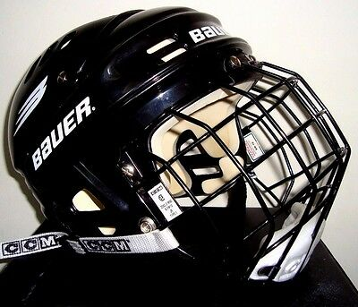 BAUER HH1000S ice hockey helmet great condition 52-57cm 6.5-7.5