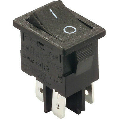 Black Rocker Switch DPST ON-OFF. 1 or 6 pack. FREE POSTAGE