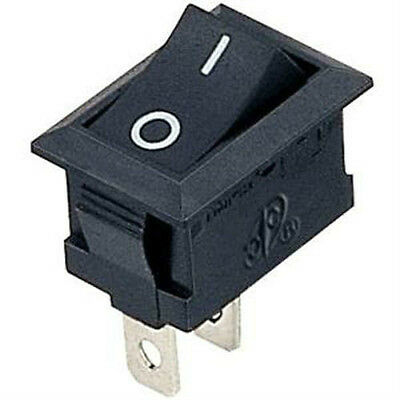 Rocker Switch SPST ON-OFF. Red or Black. 1 or 6 pack. FREE POSTAGE