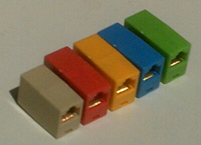 Ethernet RJ-45 Connector Joiner Red Yellow Green Blue Beige Mixed FREE POSTAGE