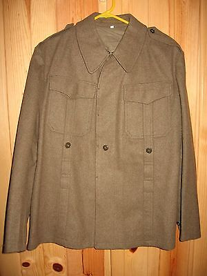 Vintage WW2 Mens U.S. Army Green Military Wool Jacket Size 3 Tailored Made