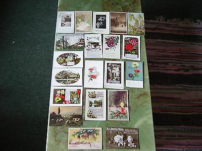 Collection Of 20 Vintage Postcards - Greetings. Lot 1.