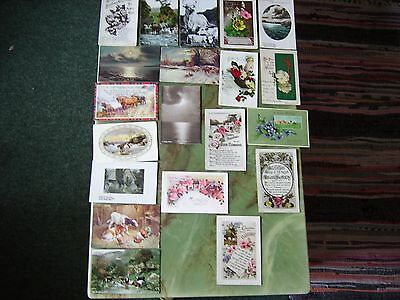 Collection Of 20 Vintage Postcards - Greetings. Lot 2.