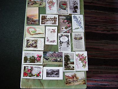 Collection Of 20 Vintage Postcards - Greetings. Lot 3.