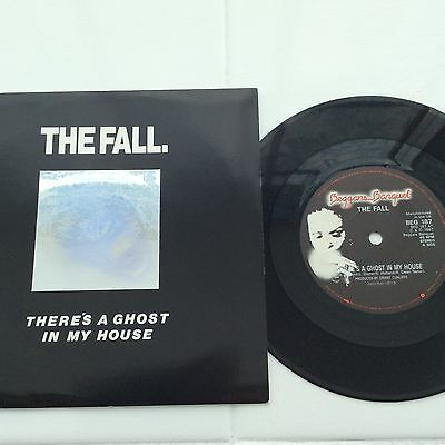 rare hologram sleeve vinyl record the fall theres a ghost in my house 1987