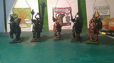 warhammer fantasy / age of sigmar warriors of chaos knights x5