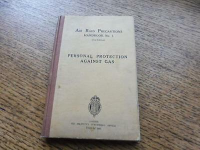 Original WW2 issue Home Front ARP Gas Training Manual 1938  Personal Protection
