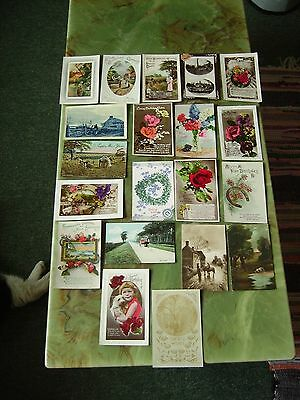 Collection Of 20 Vintage Postcards - Greetings. Lot 5 .