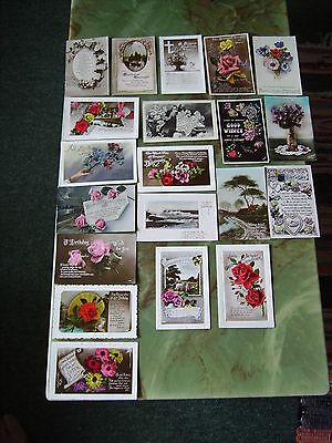 Collection Of 20 Vintage Postcards - Greetings. Lot 9 .