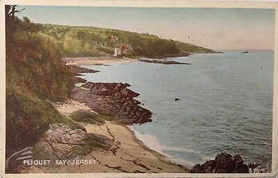 FLIQUET BAY Jersey Channel Islands Postcard byVALENTINES