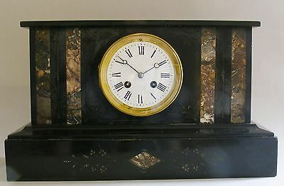 French mantel clock, count wheel striking, movement serviced GWO, mid-19th cent.