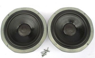 """Pair of Vintage 8 ohm Magnat All Ribbon 8p 10"""" woofers speakers"""