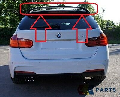 Bmw New Genuine 3 Series F31 Touring Rear Spoiler Matt Black 2298300