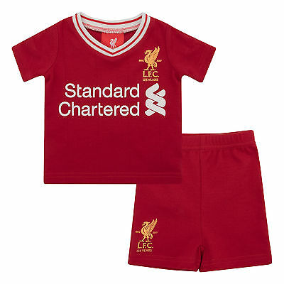 Liverpool FC  LFC Home Tee and Short Set 17/18 Official