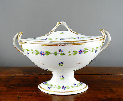 Royal Crown Derby Sauce Tureen with Cover Porcelain Bowl Antique 19th Century