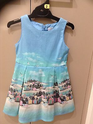 Girls Blue No sleeve Lined Dress, size 2 Outer Cotton/Elastane Target Brand New!