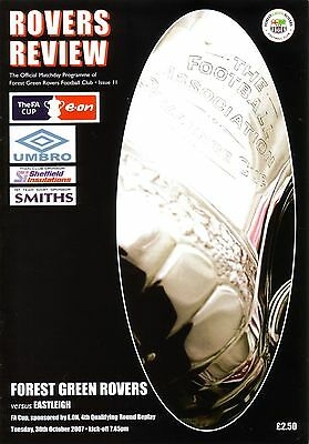 FOREST GREEN ROVERS v EASTLEIGH 2007/08 FA CUP 4TH QUALIFYING ROUND REPLAY