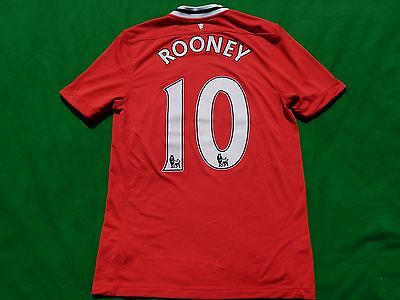 Manchester United 2011-12 Football Home Shirt Rooney 10  ,mens Medium