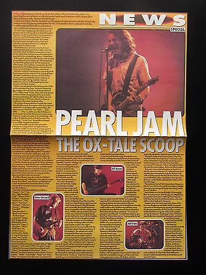 "PEARL JAM AUSTRALIA TOUR 1995 VITALOGY UK FULL PAGE MAGAZINE CUTTING 10"" x 14"""