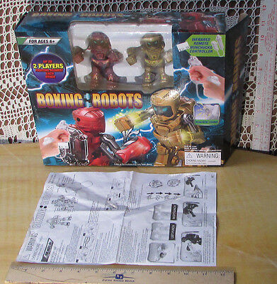 BOXING ROBOTS Complete In Box Punch,Lights & Sound Works w Batteries Toy2U #6266