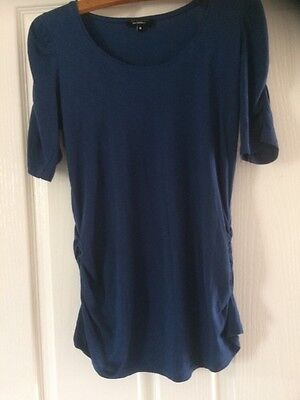 Lovely Deep Blue Maternity Top From New Look Size 10