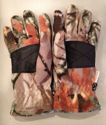 Youth Kids Fleece Camouflage Gloves 100% Polyester 3D Fusion Outfitters Ridge