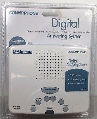 Conairphone Digital Answering Machine System Model TAD1220WCS-New In Package