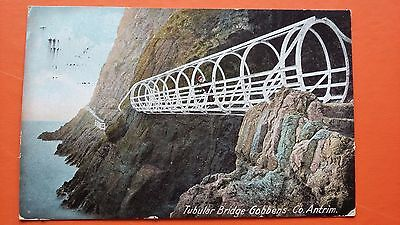 Tubular Bridge Gobben's Co .Antrim Early 1900 Postcard