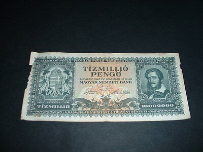 Hungary Ww2   Banknote 1945 10 Million Pengo  1 Invoice Covers All