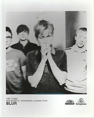 "BLUR 1997 UK VERY SCARCE 10"" x 8"" BLACK & WHITE PROMOTIONAL PUBLICITY PHOTO"