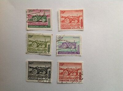 Pakistan 1978 Tractors Set Of 6 Stamps