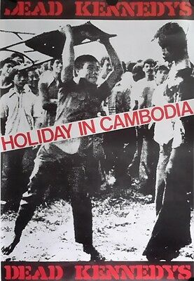 Dead Kennedys,  Holiday in Cambodia Vintage Giant Poster FREE INT.SHIPPING