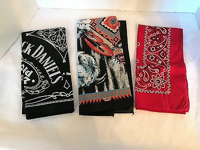 Jack Daniels Old No 7 Scarf Bandana Plus 2 Others!!